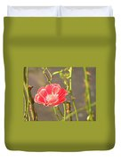Late Beauty Between Thorns Duvet Cover