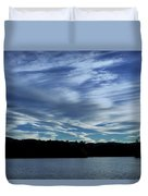 Late Day Clouds Over Mountainss Duvet Cover