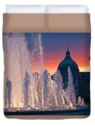 Late Evening At The Amalie Garden Duvet Cover