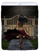 Late Evening Stroll Duvet Cover