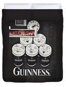 Late Night Guinness Limerick Ireland Duvet Cover