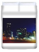 Late Night Seattle  Duvet Cover