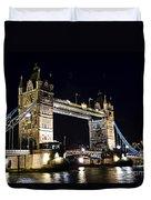 Late Night Tower Bridge Duvet Cover by Elena Elisseeva