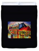 Late On Bourbon Street Duvet Cover