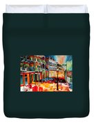 Late On Royal Street Duvet Cover