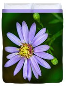 Late Purple Aster Duvet Cover