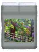 Late Summer At Pennypack Preserve Duvet Cover