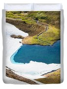 Late Thawing Tarn Duvet Cover