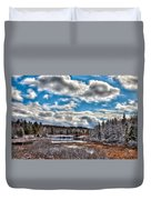 Late Winter At The Tobie Trail Bridge Duvet Cover