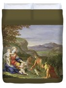 Latona And The Frogs Duvet Cover