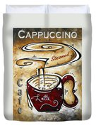 Latte By Madart Duvet Cover by Megan Duncanson