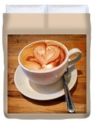 Latte Love Duvet Cover
