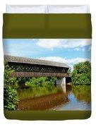 Lattice Covered Bridge Duvet Cover