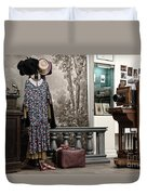 Latvian Photo Studio In The Beginning Of The 20th Century Duvet Cover