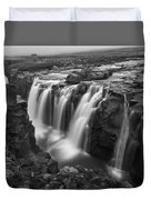 Laugafell Mountain Lodge Waterfalls 3155 Duvet Cover