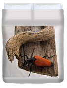 Laughing Beetle Duvet Cover