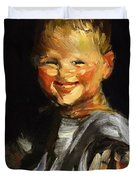 Laughing Child 1907 Duvet Cover