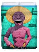Laughing Gardener Duvet Cover