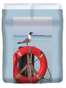 Laughing Gull At Lewes Duvet Cover