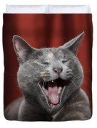 Laughing Kitty Duvet Cover