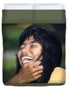 Laughing Out Loud Duvet Cover