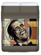 Laughing President Obama Duvet Cover