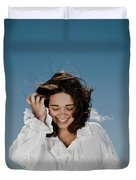 Laughing Sky Duvet Cover