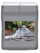 Laughing Whitefish Waterfall In Michigan Duvet Cover