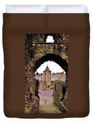 Launceston Castle South Gatehouse Duvet Cover