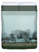 Laundry Day At The Dairy Farm Duvet Cover