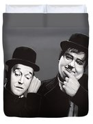 Laurel And Hardy Duvet Cover by Paul Meijering
