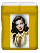 Lauren Bacall - Vintage Painting Duvet Cover