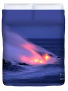 Lava And Pink Smoke Duvet Cover