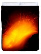 Lava And Steam Duvet Cover by Peter French - Printscapes
