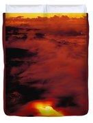 Lava At Dawn Duvet Cover