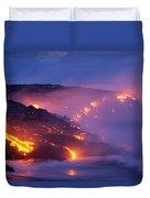 Lava At Twilight Duvet Cover