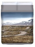 Lava Field In Iceland Duvet Cover