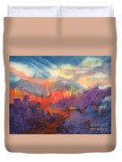 Lava Flow Abstract Duvet Cover