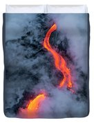 Lava Flowing Into The Ocean 20 Duvet Cover by Jim Thompson