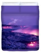 Lava Flows To The Sea Duvet Cover