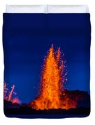 Lava Fountains At The Holuhraun Fissure Duvet Cover