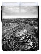 Lava Landscape - Bw Duvet Cover