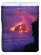 Lava Meets Ocean Action Duvet Cover