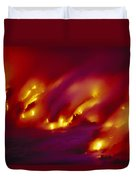 Lava Up Close Duvet Cover