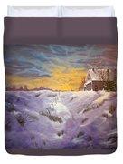 Lavendar Snow Duvet Cover