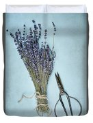 Lavender And Antique Scissors Duvet Cover