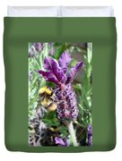 Lavender And Busy Bee. Duvet Cover