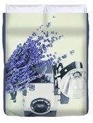 Lavender And Kodak Brownie Camera Duvet Cover