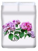 Lavender And Rose Hydrangeas Duvet Cover