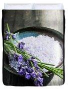 Lavender Bath Salts In Dish Duvet Cover